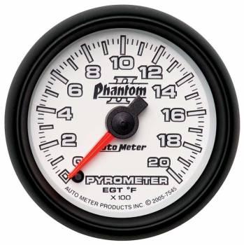 Auto Meter - Auto Meter Phantom II Electric Pyrometer Gauge Kit - 2-1/16 in.
