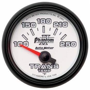 Auto Meter - Auto Meter Phantom II Electric Transmission Temperature Gauge - 2-1/16""