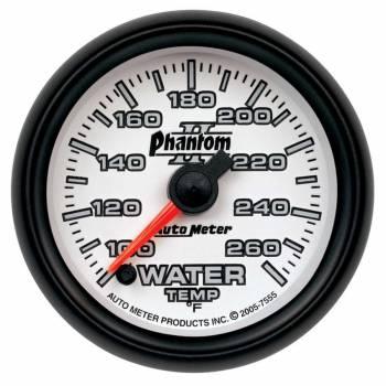 """Auto Meter - Auto Meter Phantom II Electric Water Temperature Gauge - 2-1/16"""""""