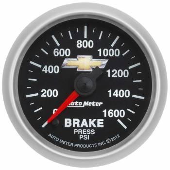 """Auto Meter - Auto Meter 2-1/16"""" Brake Pressure Gauge - GM COPO Camaro"""