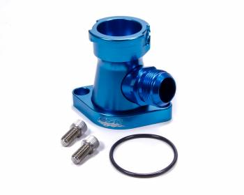 CSR Performance Products - CSR Performance Billet Aluminum 360 Swivel Thermostat Housing - Blue Anodized - Chevy Big, SB, -16 AN Hose Connection
