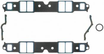 """Fel-Pro Performance Gaskets - Fel-Pro Intake Manifold Gaskets - SB Chevy - Cast Iron & Aluminum Heads w/ Conventional Ports - Large Race Port, -12Sp-S, - 1.38"""" x 2.28"""" Port Size - .060"""" Thickness"""