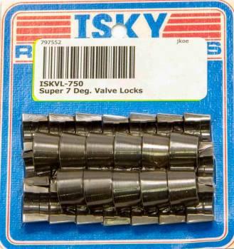 "Isky Cams - Isky Cams Super 7° Valve Locks - For 11/32"" Diameter Valve Stems, + .050"" Higher Installed Height"