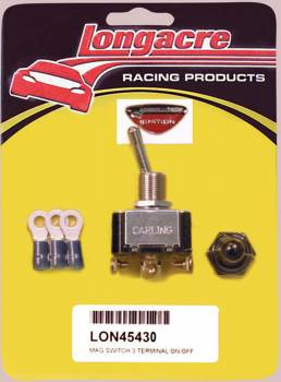 Longacre Racing Products - Longacre Ignition Switch w/ Weatherproof Cover and 3 Terminals