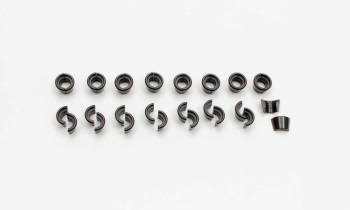 "Manley Performance - Manley 10° Steel Valve Locks - Fits .3715"" Diameter Valve Stems, Conventional Groove, Standard Height - (Set of 16)"