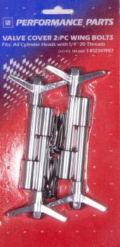 Proform Parts - Proform Valve Cover Wing Nut - Bow Tie Emblem - 4 Per Package