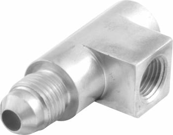 """QuickCar Racing Products - QuickCar Aluminum Tee Gauge Fitting - Female 1/8"""" NPT to Male -04 AN"""