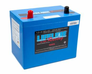 Lifeline Racing Batteries - Lifeline Batteries 16 Volt 2 Post AGM Battery - 16 Volt or 16/12 Volt Battery
