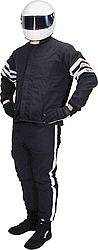 RJS Racing Equipment - RJS Double Layer Nomex® Driving Suit Pants (Only) - Black - X-Large