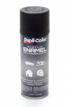 Dupli-Color - Dupli-Color® Premium Enamel - 12 oz. Can - Flat Black