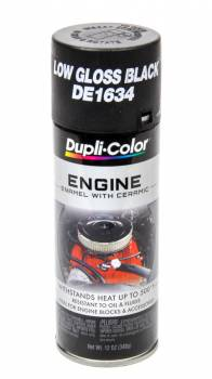 Dupli-Color - Dupli-Color® Engine Enamel - 12 oz. Can - GM, Chrysler Low Gloss Black