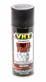 VHT - VHT Polyurethane Wheel Paint - Satin Black - 11 oz. Aerosol Can