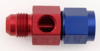 """XRP - XRP Fuel Pressure Take-Off Adapter - 1/8"""" NPT Port, -06 AN Male to -06 AN Female Swivel"""
