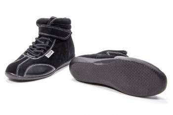 Crow Mid-Top Driving Shoes - Black