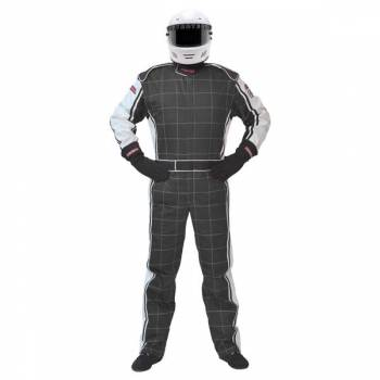 Pyrotect Ultra-1 Auto Racing Suit - Black / White