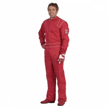 Crow Enterprizes - Crow Quilted Two Layer Proban® Driving Suit - Red