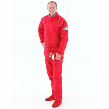Crow Enterprizes - Crow Quilted Two Layer Proban® Driving Suit - 2 Piece Design - Red