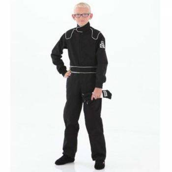 Crow Junior 1 Layer Proban Driving Suit - Black 24XX4