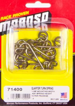"Moroso Performance Products - Moroso Quick Fastener Spring - 1 3/8"" Spring; Spring Height: .425"" - (10 Pack)"