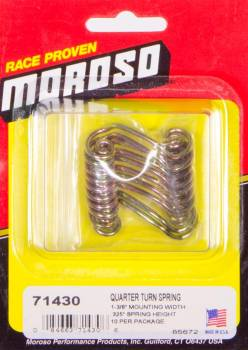 """Moroso Performance Products - Moroso Quick Fastener Spring - 1"""" Spring; Spring Height: .325"""" - (10 Pack)"""