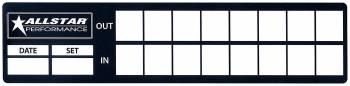 Allstar Performance - Allstar Performance Allstar Tire Log Information Sticker Set of 8