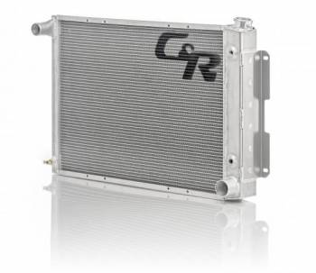 C&R Racing - C&R Racing Crossflow Radiator Driver Inlet/Pass Outlet Trans Cooler - Aluminum - GM F-Body 1967-69