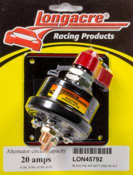 Longacre Racing Products - Longacre Racing Products Rotary Switch Battery Disconnect Panel Mount