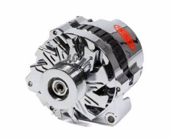 Powermaster Motorsports - Powermaster Motorsports CS130 Alternator 140 amp - 6 Rib Serpentine Pulley - Straight Mount