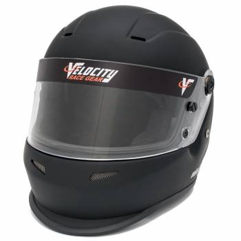 Velocity Outlaw Youth Helmet - Flat Black (Front Left)