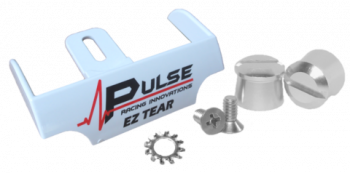Pulse Racing Innovations - Pulse EZ Tear White w/ Silver Tear Off Posts