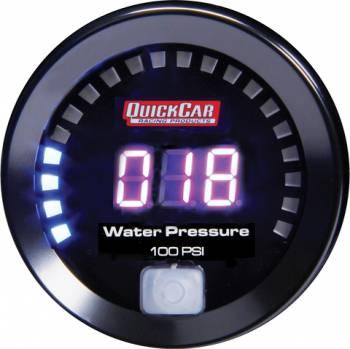 QuickCar Racing Products - QuickCar Digital Water Pressure Gauge 0-100