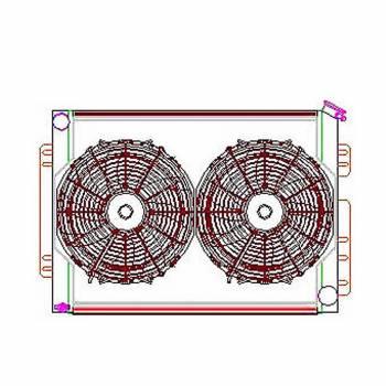 Griffin Thermal Products - Griffin Thermal Products Radiator Combo Unit GM A & F Body w/o Trans Clr