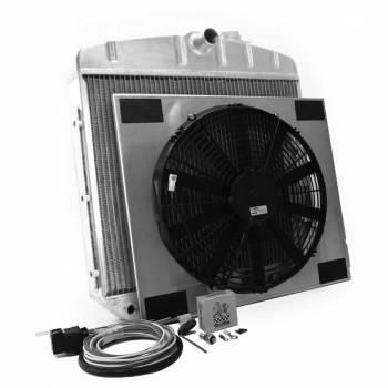 Griffin Thermal Products - Griffin Thermal Products Radiator Combo Unit GM 55-57 Chevy