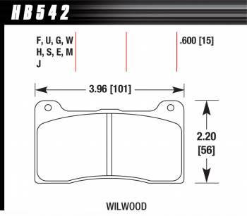 Hawk Performance - Hawk Performance Brake Pad Billet DynaPro Narrow DTC-60