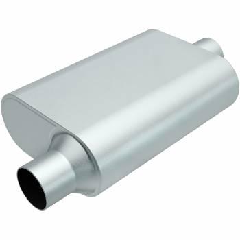 "Magnaflow Performance Exhaust - Magnaflow Performance Exhaust Rumble Aluminizd Muffler 2.5"" Offset In/Center"