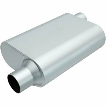 "Magnaflow Performance Exhaust - Magnaflow Performance Exhaust Rumble Aluminizd Muffler 2.5"" Offset In/Out"