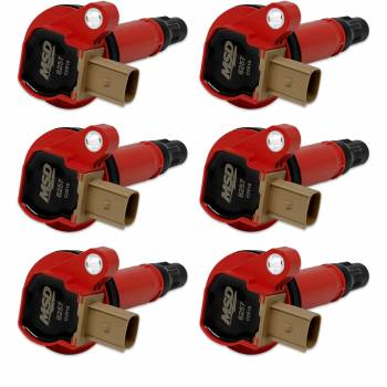 Mallory Ignition - Mallory Ignition Coils 6pk Ford Eco-Boost 3.5L V6 11-16  Red