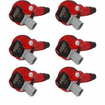 Mallory Ignition - Mallory Ignition Coils 6pk Ford Eco-Boost 3.5L V6 10-13   Red