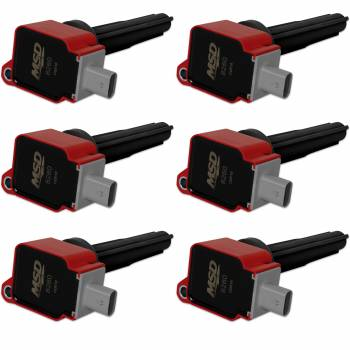 Mallory Ignition - Mallory Ignition Coils 6pk Ford Eco-Boost 2.7 V6   Red