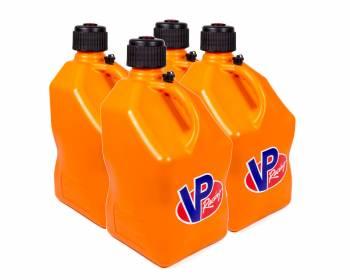 VP Racing Fuels - VP Racing Fuels 5 Gallon Motorsports Utility Jug - Square - Orange (Case of 4)