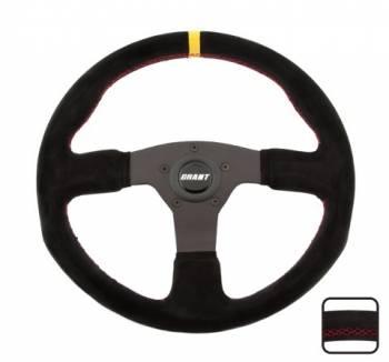 """Grant Products - Grant Steering Wheels Suede Series Steering Wh eel 13.75 Dia. 1"""" Dish"""