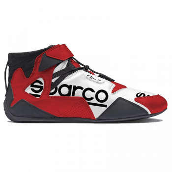 Sparco Apex RB-7 Shoe - White / Red 00126BIRS