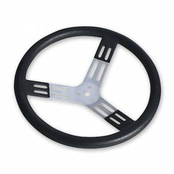 "Longacre Racing Products - Longacre 17"" Aluminum - Black w/ Natural Spokes and Bump Grip"