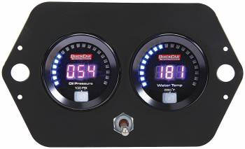 QuickCar Racing Products - QuickCar Digital Open Wheel 2 Gauge Panel - OP/WT