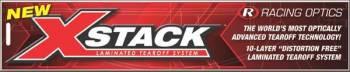 Racing Optics - Racing Optics X-Stack Tearoffs - Clear - Stilo ST5 w/ Large Tabs
