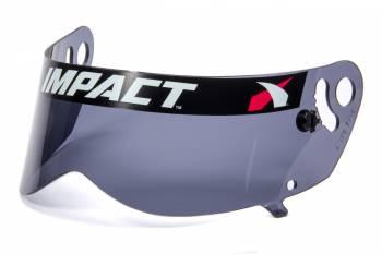 Impact - Impact Helmet Shield - Dark Smoke - Anti- Fog - Fits Impact Champ/Nitro