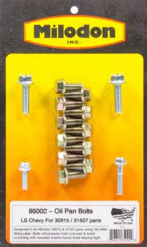 Milodon - Milodon GM LS Oil Pan Bolt Kit