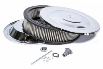 Mr. Gasket - Mr. Gasket Easy Flow Air Cleaner 14 x 3 Chrome