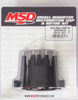 Mallory Ignition - Mallory Ignition Distributor Cap & Rotor Kit Small Diameter Black