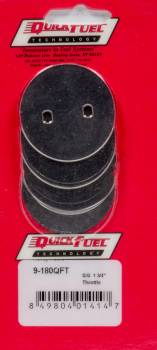 """Quick Fuel Technology - Quick Fuel Technology 1-3/4"""" SS Throttle Plates (4 Pack)"""
